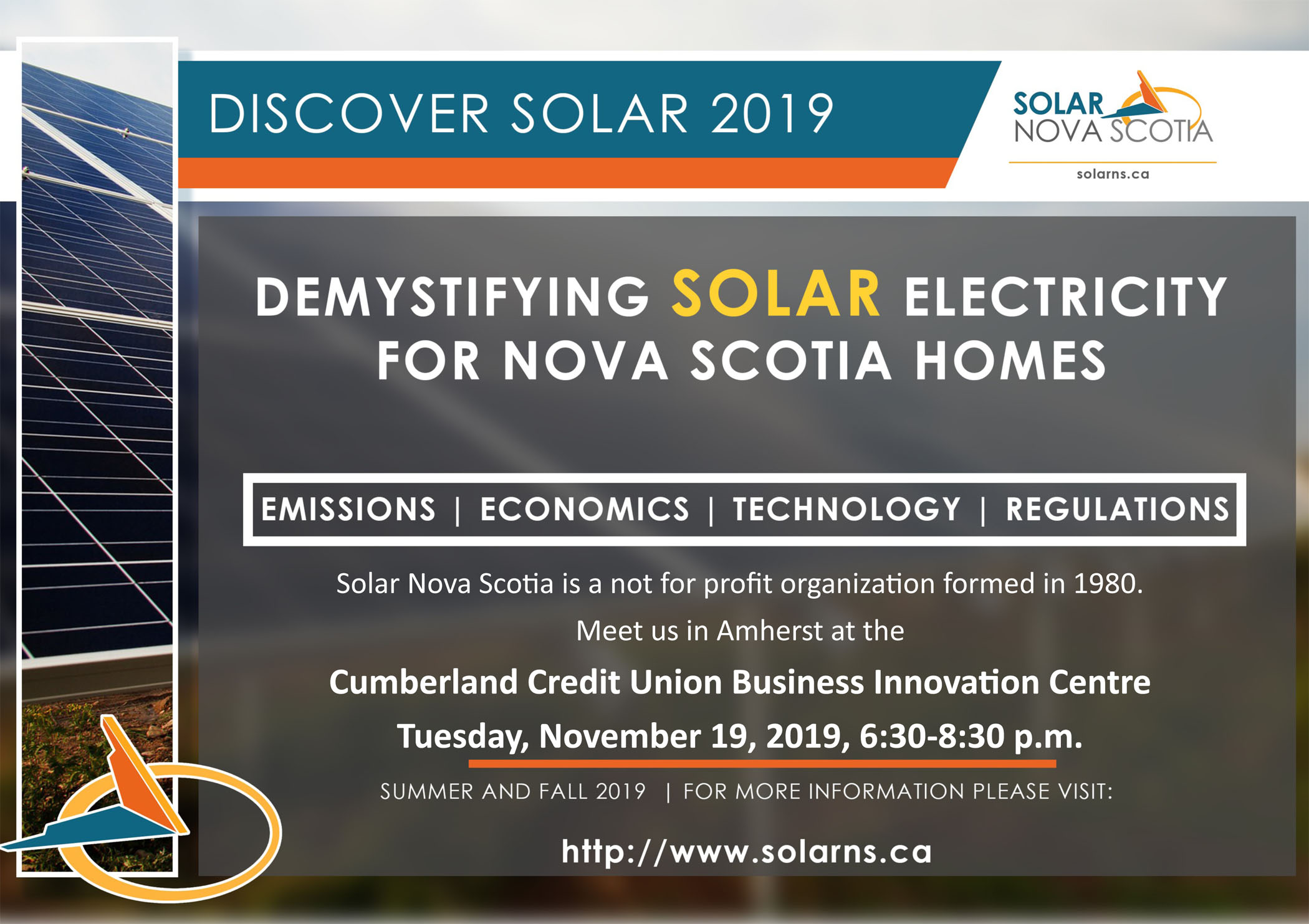 Discover Solar Poster for Amherst Nov 19 2019